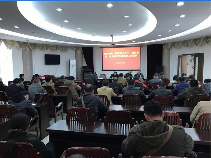 2017年第一季度安全生产、消防安全、社会治安综合治理工作会议