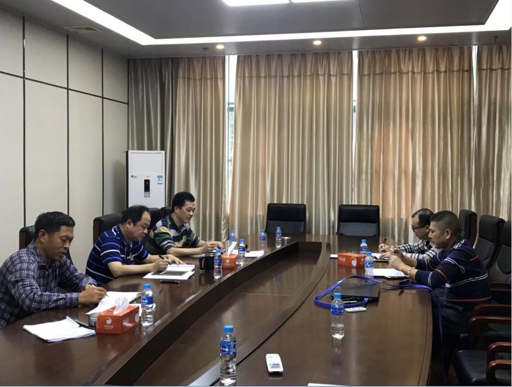 集团公司党委委员、副总经理龙文波到公司对公司党政领导班子成员开展廉政谈心谈话